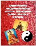 Chinese Philosophies Sorting Activity & Readings: Confucianism, Daoism, Legalism