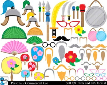 Chinese Props -  Clip Art Digital Files Personal Commercial Use cod205