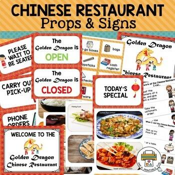 Chinese Restaurant Dramatic Play Pack