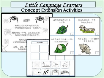 Chinese Simplified +Traditional English Dual Language: Insects Thematic Unit