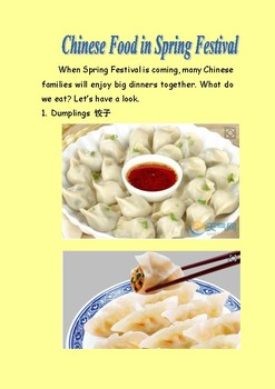 Spring Festival/Dumplings/ New Year Cake/Tangyuan