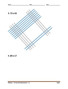 Chinese Stick Multiplication - Easier Than Partial Product Multiplication - 12