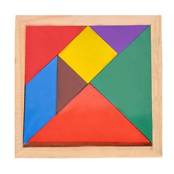 Chinese Tangram Puzzle Developmental Geometry Toy