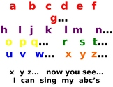 Chinese Version of the US ABC Song Fun Printout