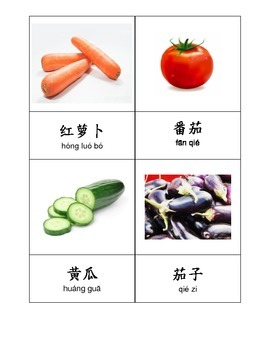 Chinese Vocabulary - Vegetables