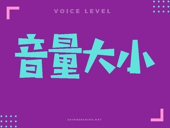 Chinese Voice Level Monitor Display