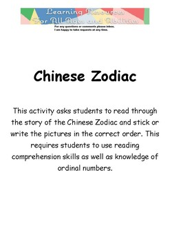 Chinese Zodiac Activity