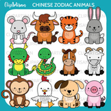 Chinese Zodiac Animals Clip Art, Chinese New Year