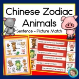 Chinese New Year Zodiac Animals Sentence Picture Match Reading Center