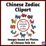 Chinese Zodiac Animals Clipart Based on Photographs