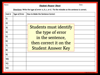 Chinese Zodiac Task Cards for Mechanics and Grammar Practice & Review