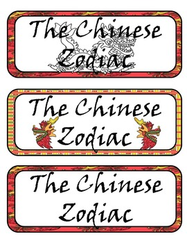 Chinese Zodiac & New Year Posters