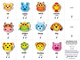 Chinese Zodiac Rhythm Cards FREEBIE - Syllabic Rhythm - New Year & Culture