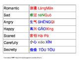 """Chinese chart of """"styles"""" for reading and acting"""
