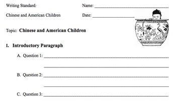 Chinese and American Children Essay Writing Prompt