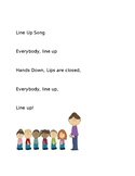 Chinese and English Line up Song