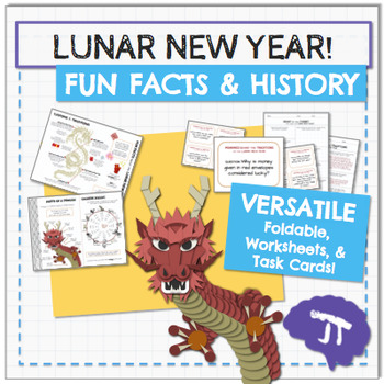 Chinese New Year 2017 FUN FACTS Infographic, Worksheet, and Task Cards