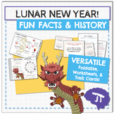 Chinese New Year FUN FACTS Infographic, Worksheet, and Task Cards