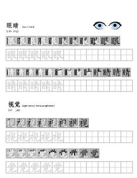 Chinese-body parts and senses