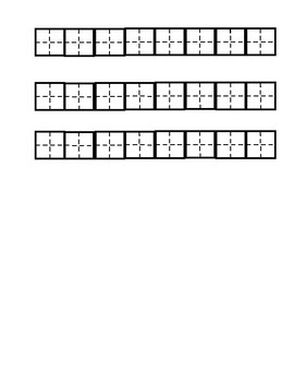 Chinese character worksheet
