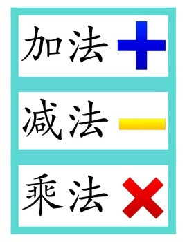 Chinese flashcard math - operations 四则运算