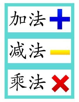 Chinese flashcard math - operations 四则运算