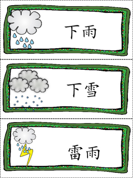 Chinese month,week and weather月份+星期+天气+句型练习 (繁体)