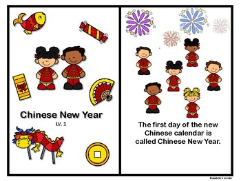 Chinese new year - Level Book, Hat, Color by Number