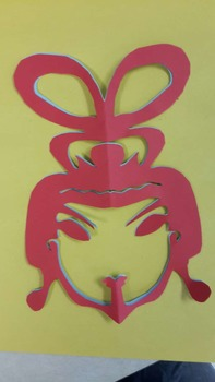 Female face-  Chinese paper cutting template