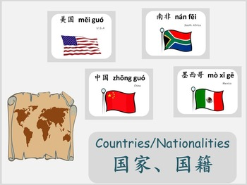Chinese thematic unit: Countries and Nationalities