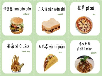 Chinese thematic unit: Food Two