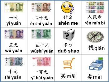 Chinese thematic unit: Money