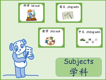 Chinese thematic unit: School Subjects