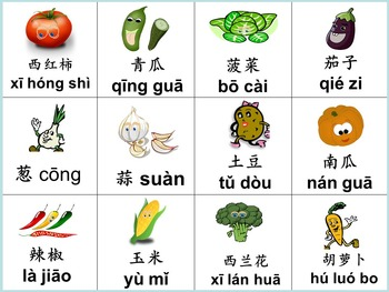 Chinese thematic unit: Vegetables