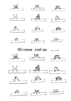Chinese zodiac Tiny finger puppet- Printable