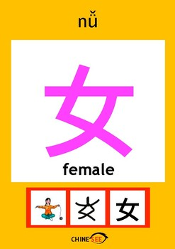 Chinesee Flashcard_女_Woman
