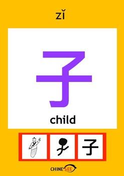 Chinesee Flashcard_子_Child