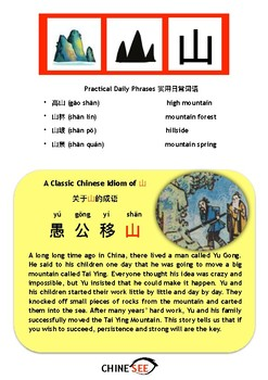 Chinesee Flashcard_山_Mountain