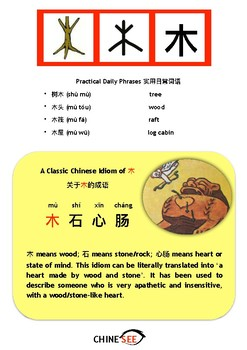 Chinesee Flashcard_木_Wood