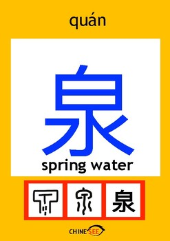 Chinesee Flashcard_泉_Spring Water