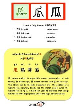 Chinesee Flashcard_瓜_Melon