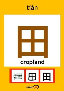 Chinesee Flashcard_田_Cropland