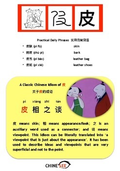 Chinesee Flashcard_皮_Skin