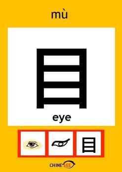 Chinesee Flashcard_目_Eye