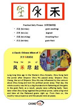 Chinesee Flashcard_禾_Grain