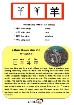 Chinesee Flashcard_羊_Sheep/Goat