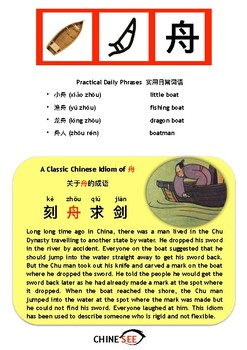 Chinesee Flashcard_舟_Boat