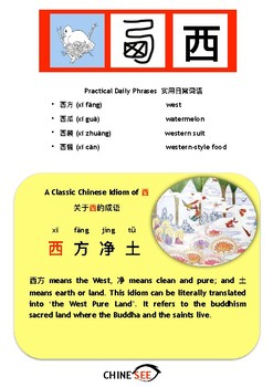 Chinesee Flashcard_西_West