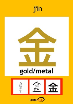 Chinesee Flashcard_金_Gold/Metal