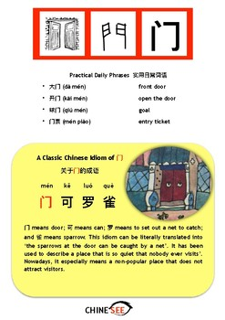 Chinesee Flashcard_门_Door